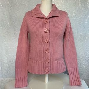 Miss Me Pink Cardigan Sweater-Buttons & Pockets